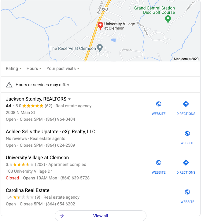 local seo map pack google