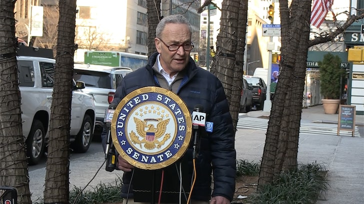 Senator Chuck Schumer Speaks as Trumper Says She Was 'Sexually Excited' By Riot