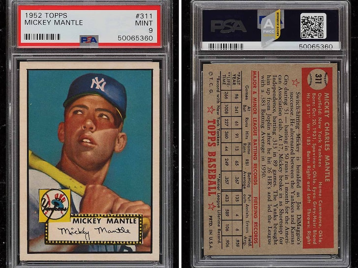 Mickey Mantle Card Sells For $5.2 Million, Sets New Record!!