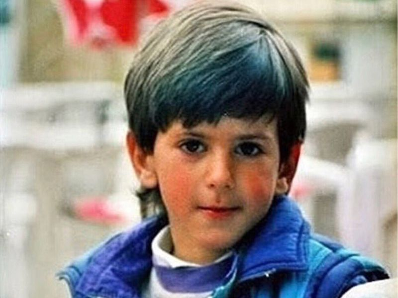 Novak Djokovic as a child