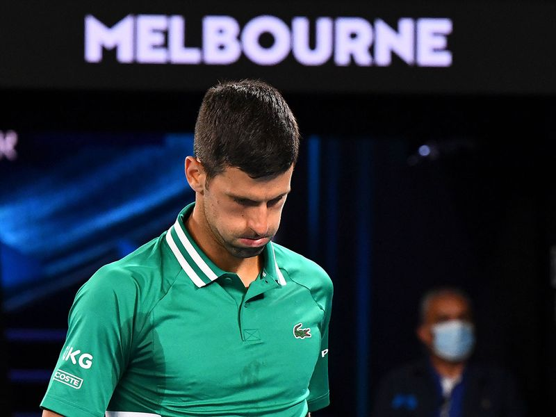Novak Djokovic says he has a muscle tear at the Australian Open