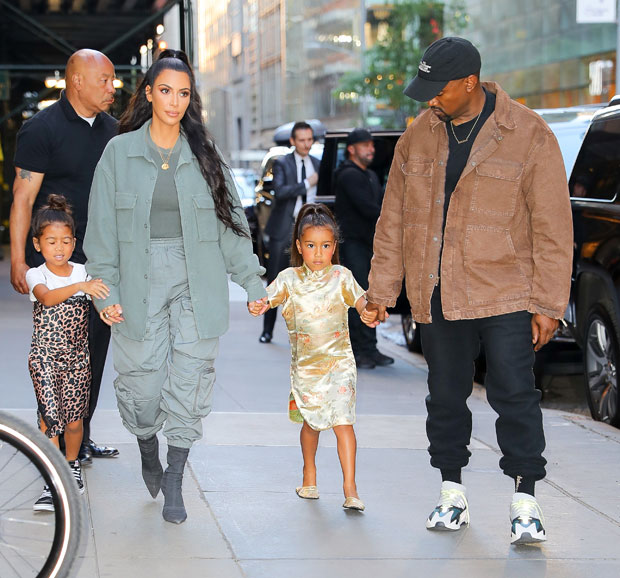 Kim Kardashian, Kanye West, North West