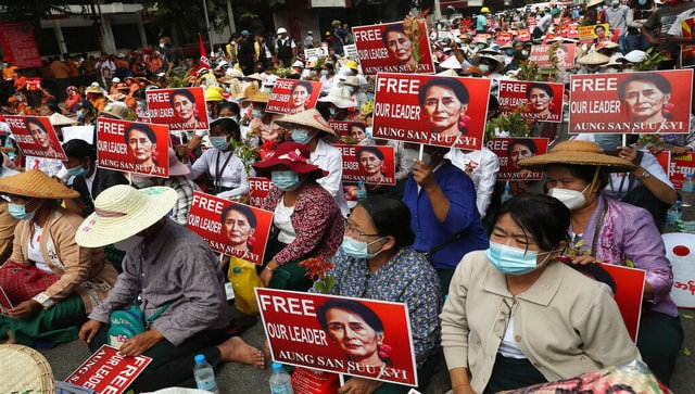 Myanmar coup: Protesters denounce deadly shootings by security forces; FB takes down military page