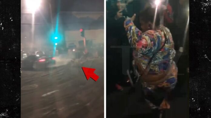 Woman Hit by Car at Oakland Sideshow, Walks Away Hyped