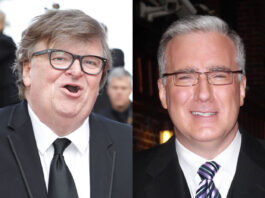 Michael Moore and Keith Olbermann