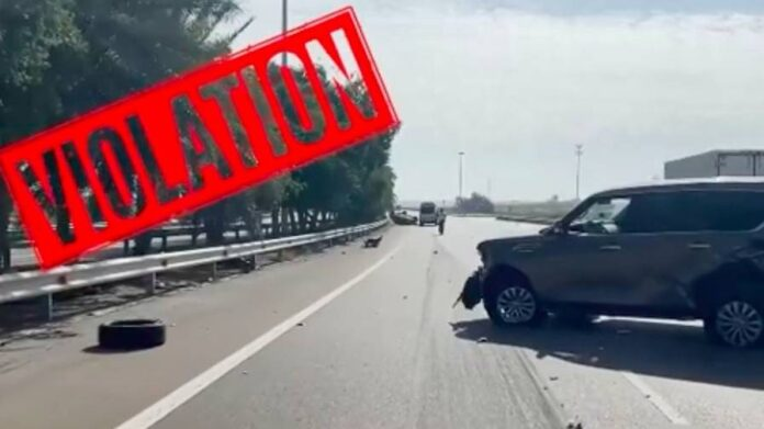 UAE video: Dh400 fine for refusing to give way on fast lane - News