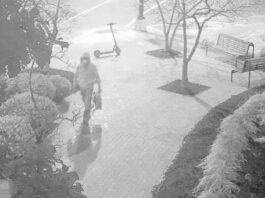 Surveillance footage of the suspect who planted pipe bombs outside of the Democratic and Republican National Committee headquarters.